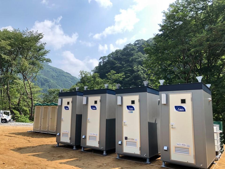 サラオ:群馬県TONETOキャンピングフィールド水上様にサラオSⅠ型5台設置