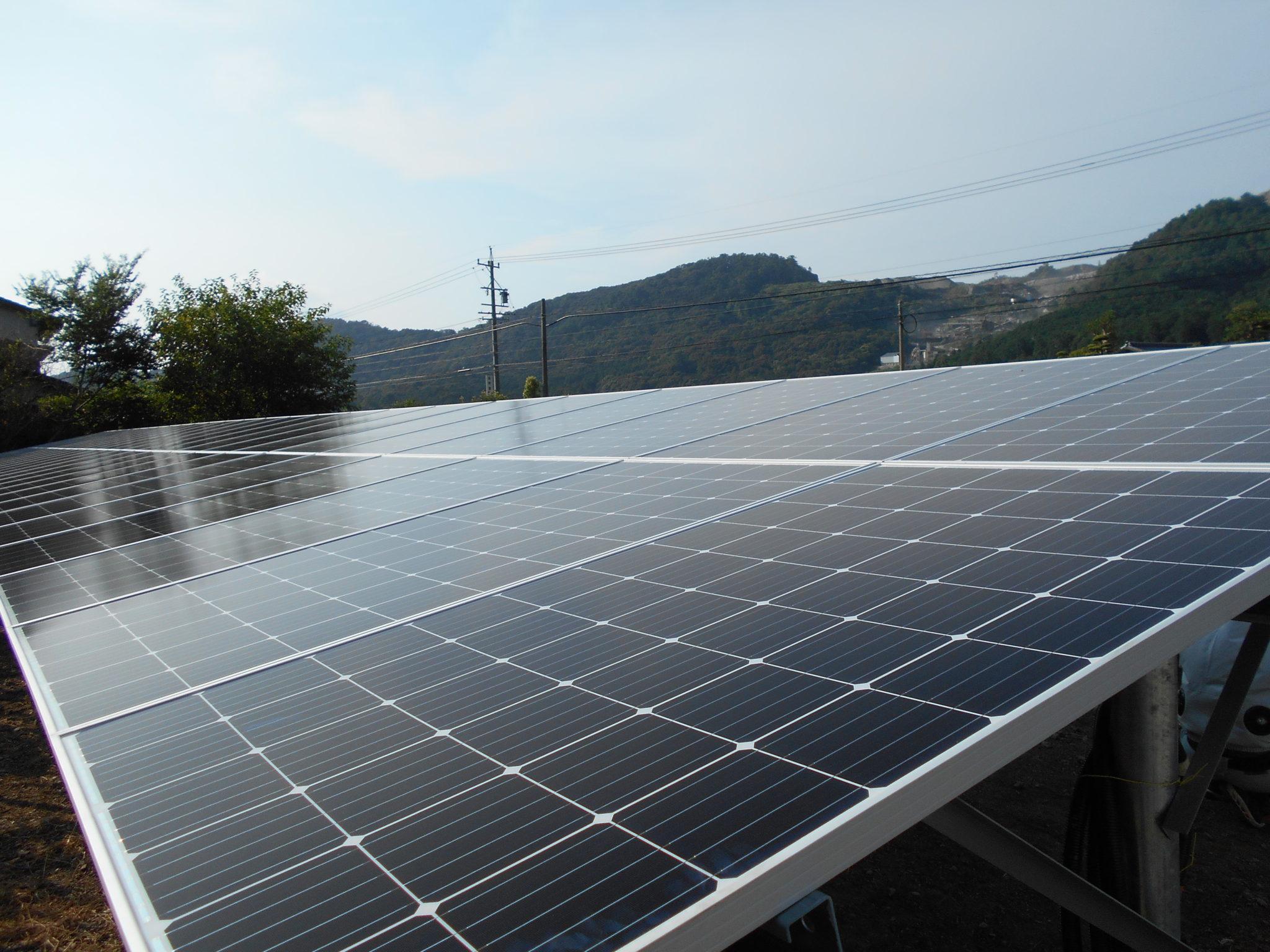 ソーラー発電事業部:豊橋市に太陽光発電所を設置